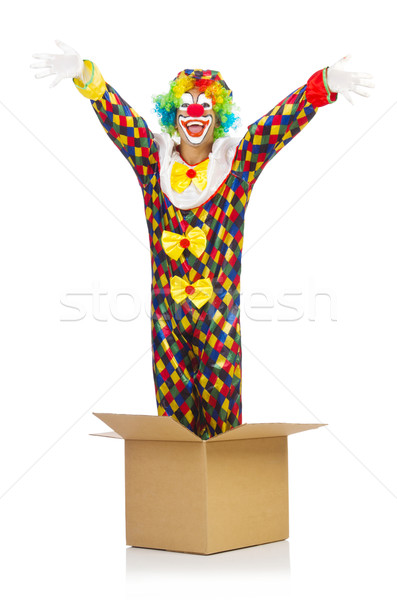 Clown jumping out of the box Stock photo © Elnur