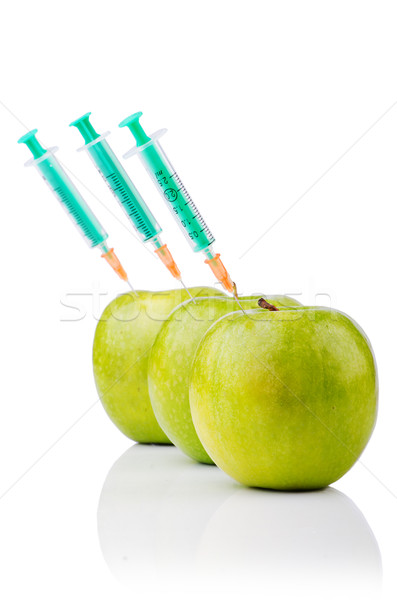 Experiment with apple and syringes Stock photo © Elnur