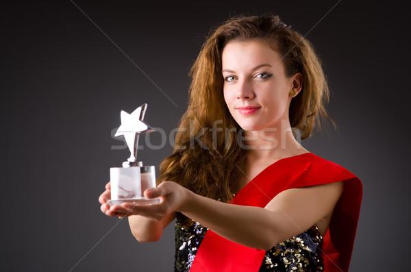 Kobieta zwycięski piękna oka twarz Zdjęcia stock © Elnur