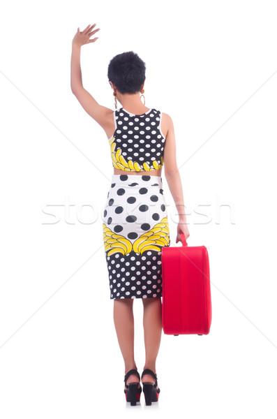 Genç kadın tatil kız mutlu arka plan seyahat Stok fotoğraf © Elnur