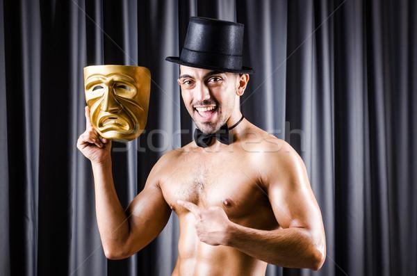 Izmos színész maszk függöny arc divat Stock fotó © Elnur