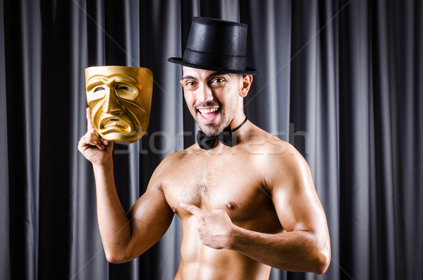 мышечный актер маске занавес лице моде Сток-фото © Elnur