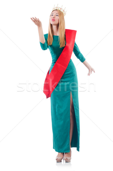 Woman participating in beauty contest Stock photo © Elnur