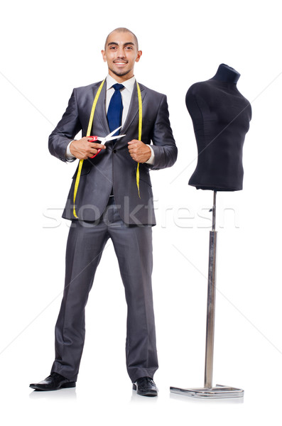 Stock photo: Tailor isolated on the white background