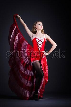 Menina vestido vermelho dança dançar vermelho balé Foto stock © Elnur