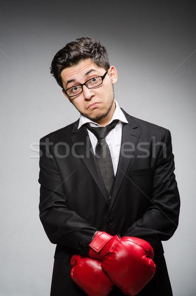 смешные Боксер бизнесмен спорт бизнеса служба Сток-фото © Elnur