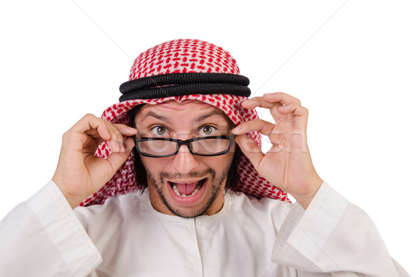 Arab man in specs  isolated on white Stock photo © Elnur
