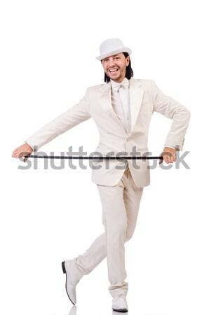 árabes hombre hacha blanco negocios sonrisa Foto stock © Elnur