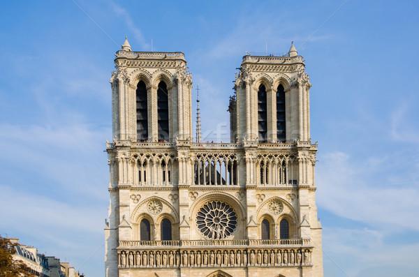 Foto stock: Paris · catedral · verão · dia · edifício