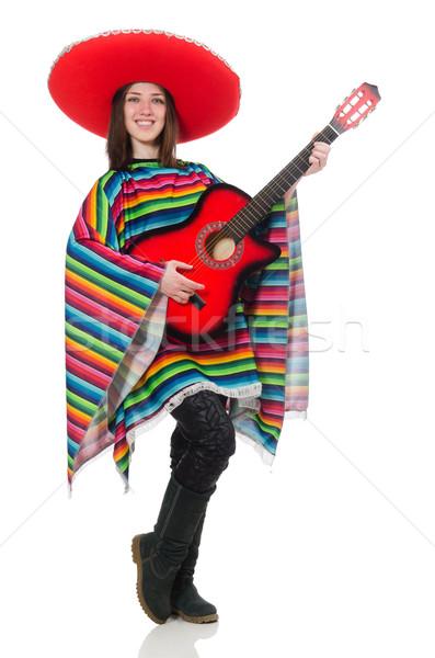 Dość mexican dziewczyna żywy odizolowany biały Zdjęcia stock © Elnur