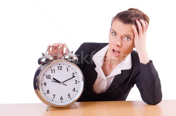 Kobieta interesu zegar brakujący terminy kobieta pracy Zdjęcia stock © Elnur