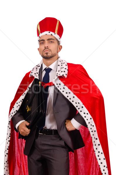 King businessman isolated on the white Stock photo © Elnur