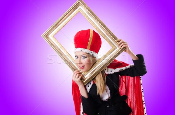 Mulher rainha engraçado negócio quadro terno Foto stock © Elnur