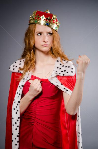 Queen businesswoman in funny concept Stock photo © Elnur