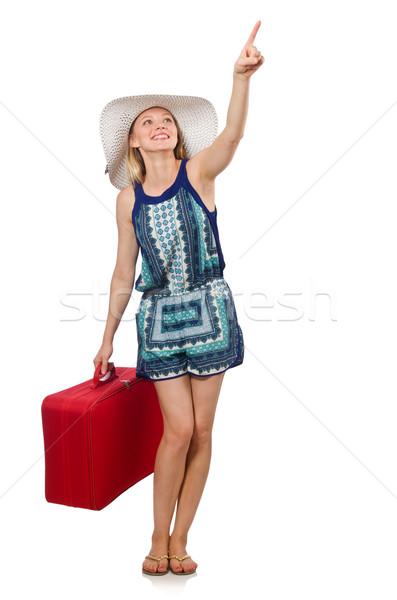 Persona equipaje mujer nina aeropuerto Foto stock © Elnur