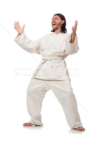 каратэ истребитель изолированный белый человека осуществлять Сток-фото © Elnur