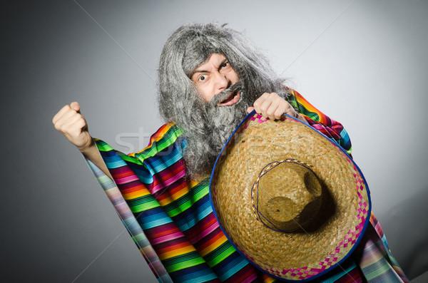 Persona indossare sombrero Hat divertente party Foto d'archivio © Elnur