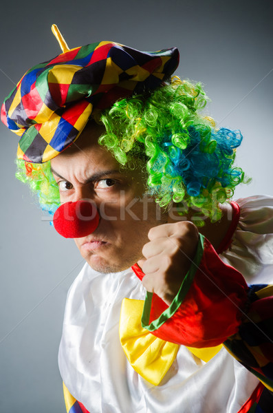 Divertente clown comico felice divertimento Hat Foto d'archivio © Elnur