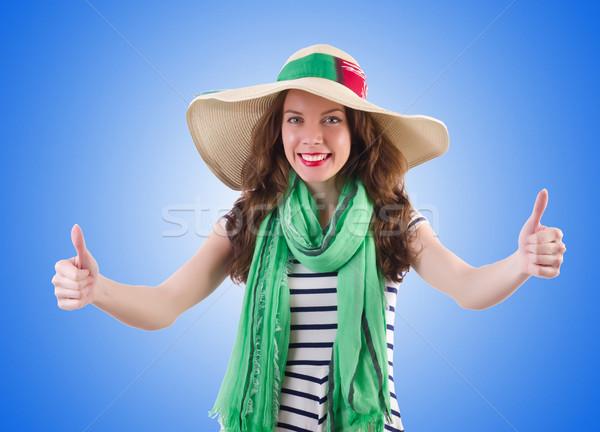 Młoda kobieta lata działalności dziewczyna szczęśliwy słońce Zdjęcia stock © Elnur