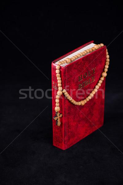 Bible croix religieux bois lumière jesus Photo stock © Elnur