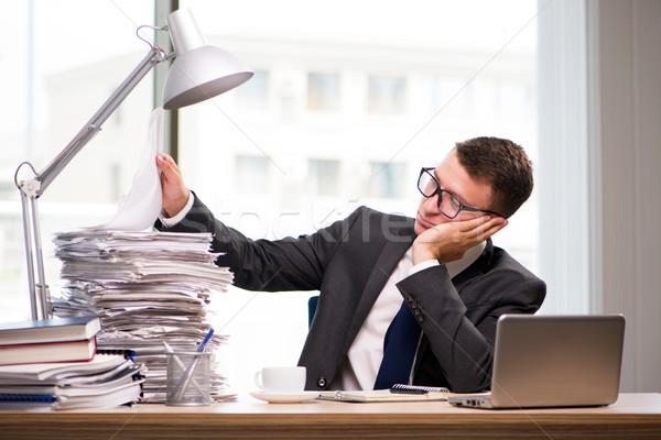 Jóvenes empresario de trabajo oficina negocios trabajo Foto stock © Elnur