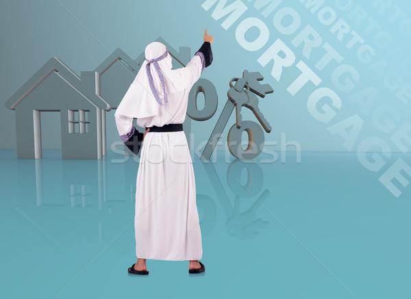 арабских человека ипотечный бизнеса Финансы женщины Сток-фото © Elnur