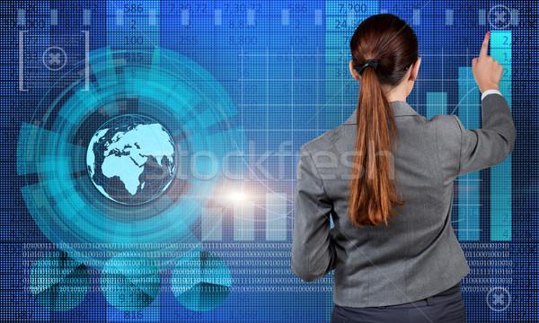 Imprenditrice stock di trading business soldi lavoro Foto d'archivio © Elnur
