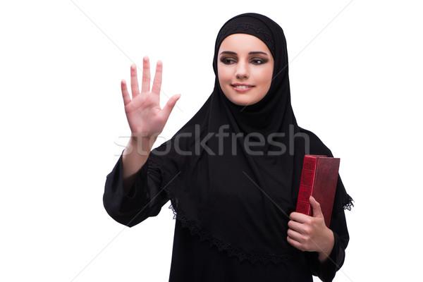 ムスリム 女性 黒のドレス 孤立した 白 少女 ストックフォト © Elnur