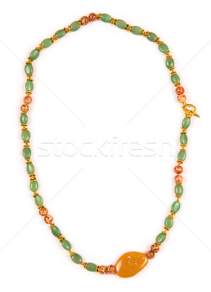 ékszerek nyaklánc izolált fehér absztrakt háttér Stock fotó © Elnur