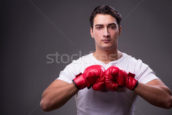Jóképű boxoló box kéz munka sport Stock fotó © Elnur