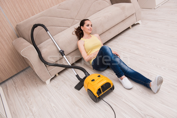 Young woman doing cleaning at home Stock photo © Elnur
