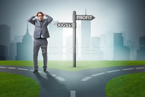 Empresario difícil elección carretera trabajo financiar Foto stock © Elnur