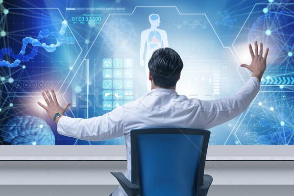 Arts futuristische medische man abstract hart Stockfoto © Elnur