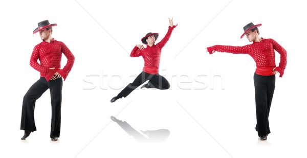 Homem dança espanhol homem branco moda fundo Foto stock © Elnur