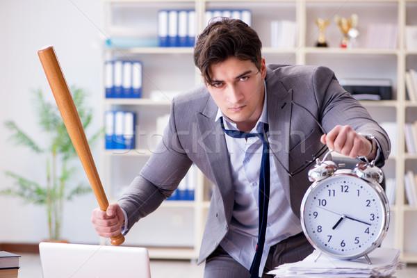 Arrabbiato aggressivo imprenditore ufficio lavoro notebook Foto d'archivio © Elnur