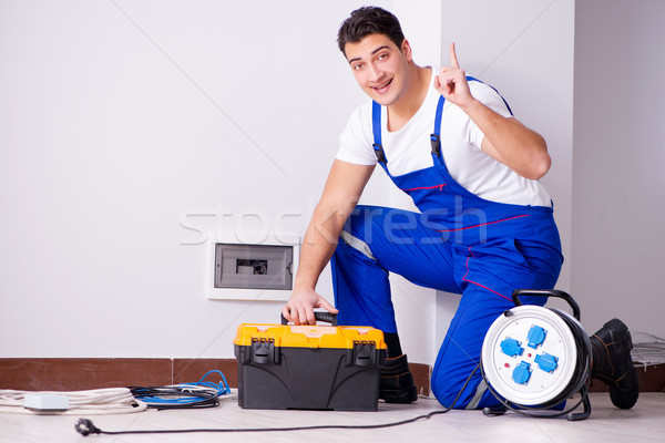 The man doing electrical repairs at home Stock photo © Elnur