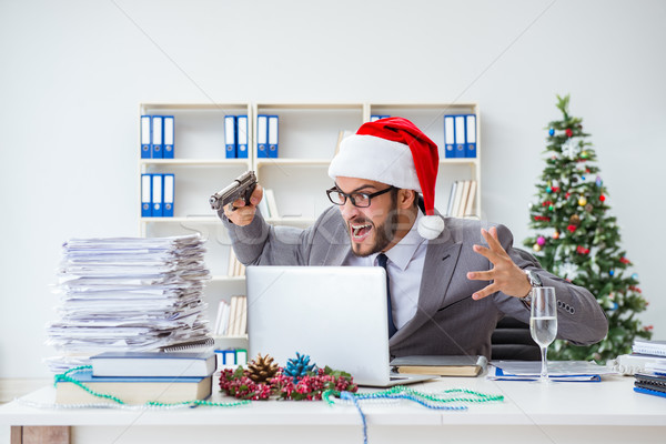 Jovem empresário natal escritório festa Foto stock © Elnur