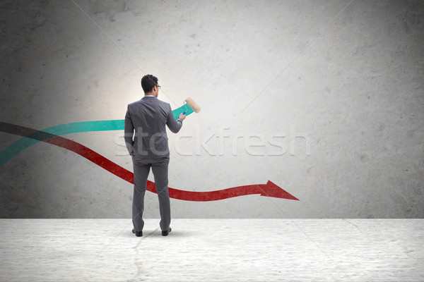 The businessman drawing charts in forecasting concept Stock photo © Elnur