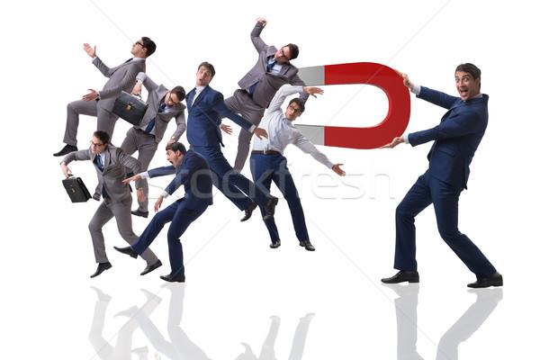 Empresario reclutamiento herradura imán red trabajador Foto stock © Elnur