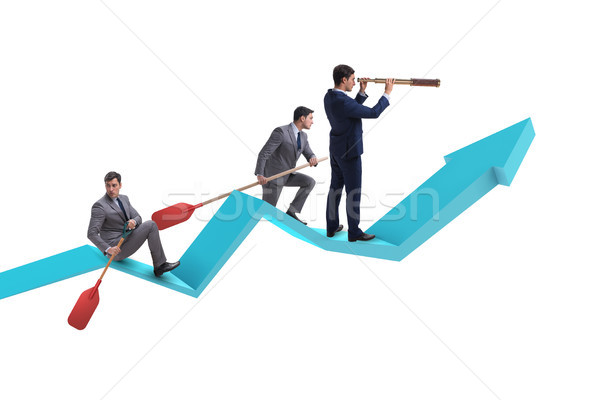 Businessman on line chart in business concept Stock photo © Elnur