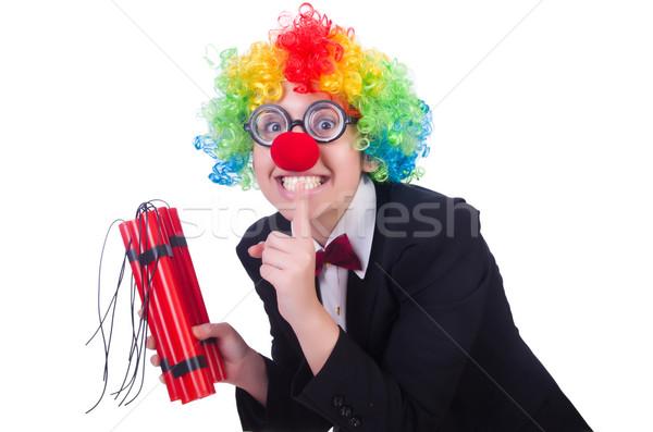 Affaires clown isolé blanche femme fête Photo stock © Elnur