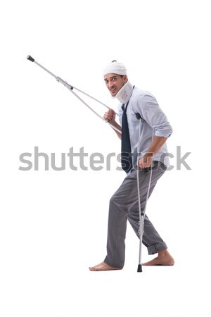 Engraçado caçador safári seis homem Foto stock © Elnur