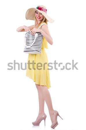 女性 船乗り 衣装 孤立した 白 笑顔 ストックフォト © Elnur
