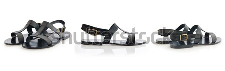 Cipők izolált fehér divat háttér fekete Stock fotó © Elnur