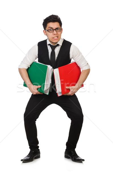 Engraçado homem branco negócio papel Foto stock © Elnur