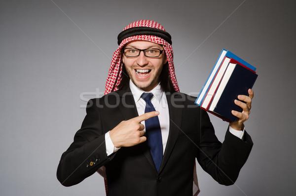 阿拉伯 男子 書 多樣 書籍 背景 商業照片 © Elnur