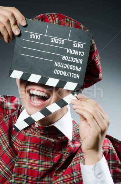 Funny film ulicy worek czarny biały Zdjęcia stock © Elnur