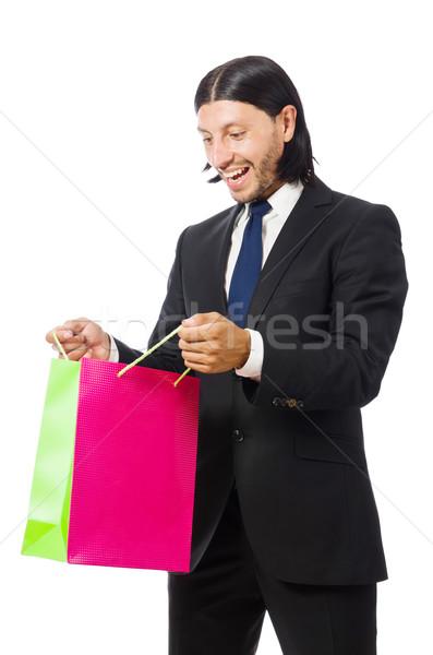 Człowiek odizolowany biały człowiek biały szczęśliwy Zdjęcia stock © Elnur