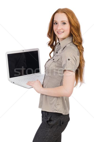 Kadın işkadını iş kadını iş bilgisayar kız Stok fotoğraf © Elnur