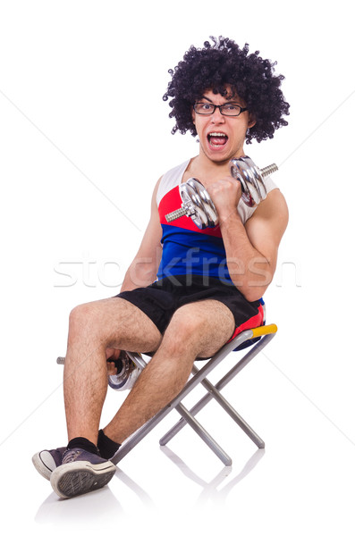 смешные парень белый спорт фитнес здоровья Сток-фото © Elnur